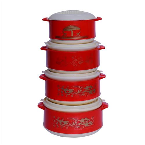 Four Piece Plastic Casserole