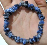 Natural Sodalite Chip Bracelet Gravel Uncut Nugget 6mm To 9mm Beads