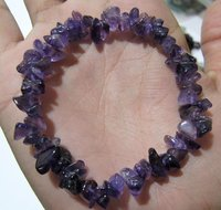 Natural Amethyst Chip Bracelet Gravel Uncut Nugget 6mm To 9mm
