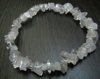 Natural Crystal Quartz Chip Bracelet Gravel Uncut Nugget 6mm To 9mm