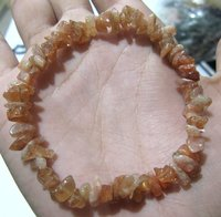 Natural Sunstone Chip Bracelet Gravel Uncut Nugget 6mm To 9mm
