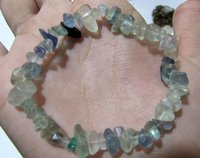 Natural Fluorite Chip Bracelet Gravel Uncut Nugget 6mm To 9mm