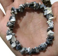 Natural Dendrite Opal Chip Bracelet Gravel Uncut Nugget 6mm To 9mm