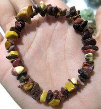 Natural Tiger Eye Chip Bracelet Gravel Uncut Nugget 6mm To 9mm