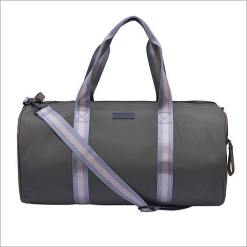 Solid Pattern Green Gym Bag