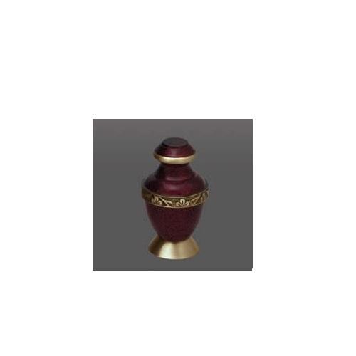 Roman V Brass Metal Cremation Urn