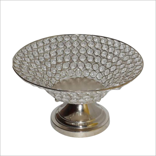 Crystal Beaded Fruit Bowl