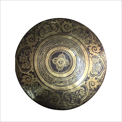 Painted Brass Plate
