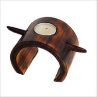 Decorative Wooden Candle Holder