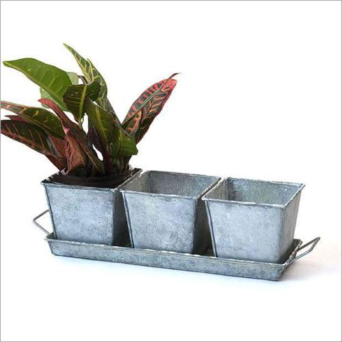 Aluminum Planter Set