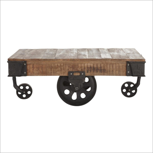 Wood Coffee Table Cart