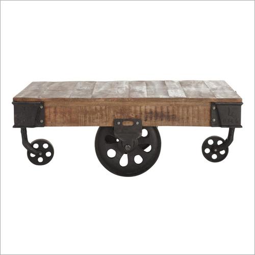 Wood Coffee Table Cart