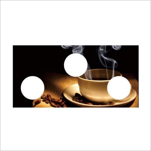 Designer Coffee Print Gas Stove Glass Top