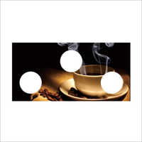 Designer Coffee Print Gas Stove Glass Top