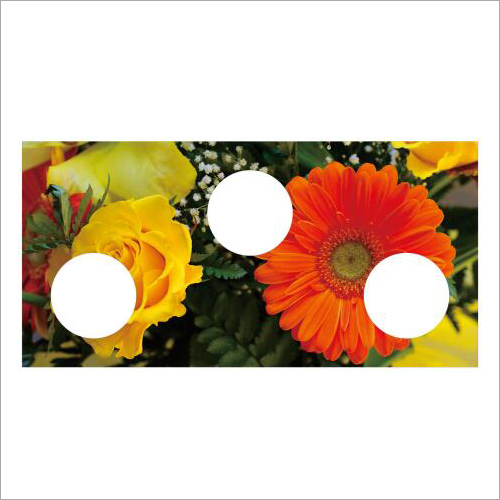 Flower Print Gas Stove Burner Glass Top