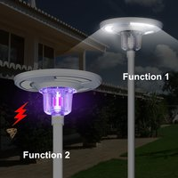 1800 Lumens Remote Controlled Colored Insect Killer LED Solar Courtyard Light