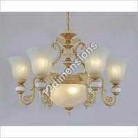 Uplight Glass Shade Chandelier