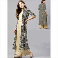 Ladies 3 Piece Cotton Palazzo set