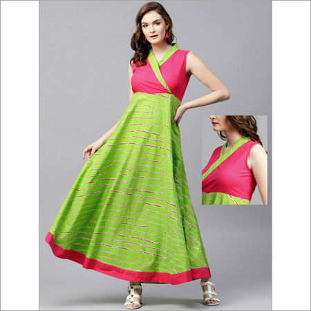 Ladies Cotton Sleeveless Long Dress