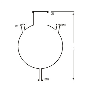 Three Neck Bottom Outlet Spherical Vessels