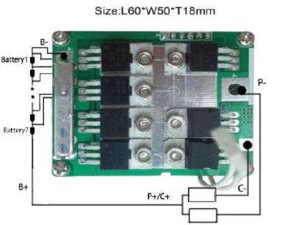 PCM for 25.9V (7S) Li-ion Battery Packs