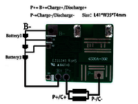 BMS/PCM for 14.8V (4S) Li-ion Battery Packs