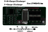 PCM for 14.8V (4S) Li-ion Battery Packs