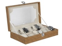 Hard Craft Brown Watch Box for 10 Watches