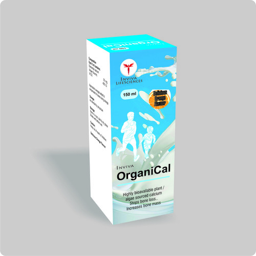 Calcium syrup for bone mass