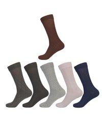 President Engrave Design Elegant Calf Cotton Socks