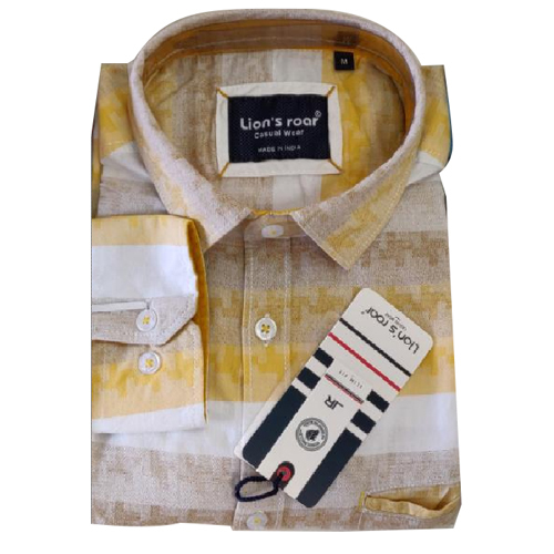 Mens Printed Cotton Casual Shirt