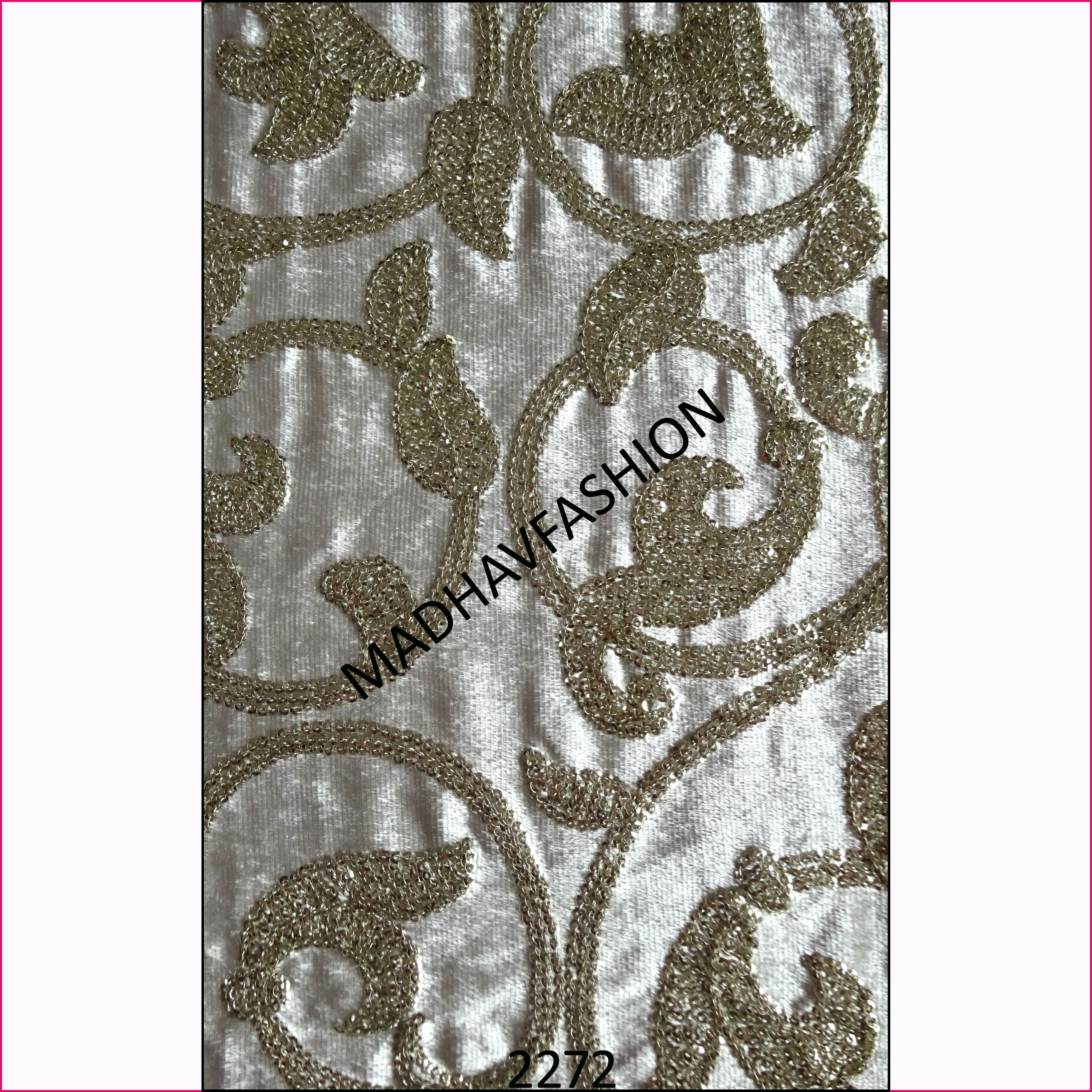 One Color Velvet Sequin Embroidery