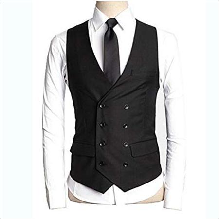 Black Korean Design Waistcoat