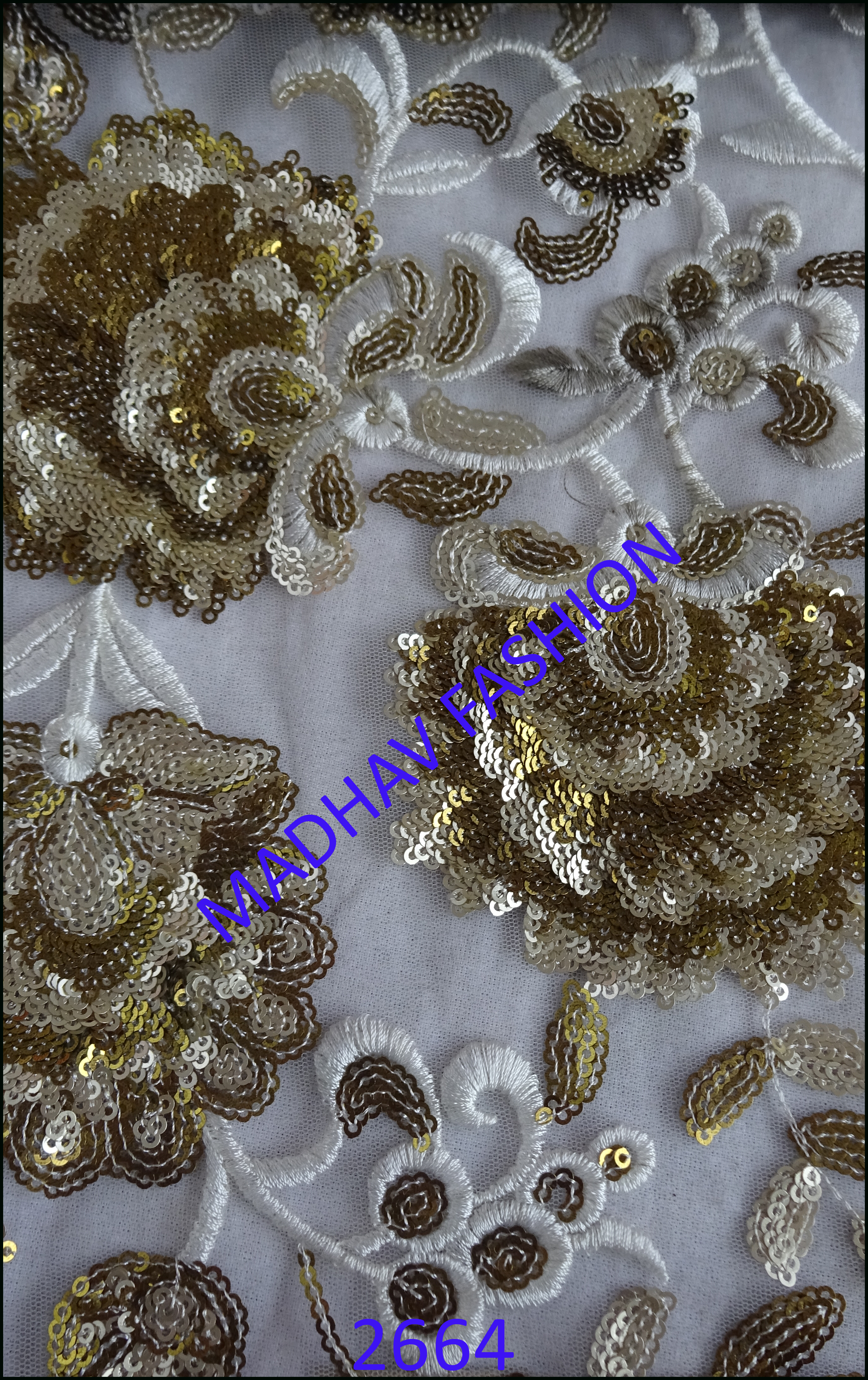 Two Color Antic Sequence Embroidery Work