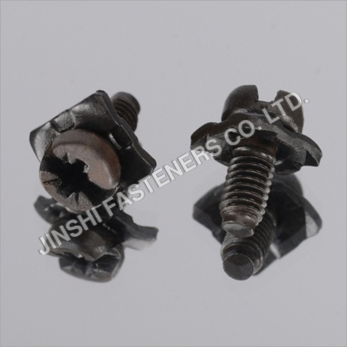 Black Metal Sems Screw With Square Washer