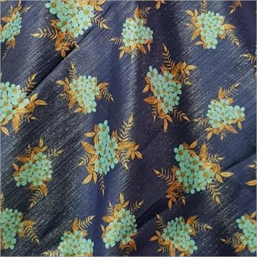 Metallic Satin Digital Printed Fabrics