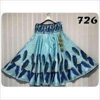 Satin Long Digital Printed Skirts