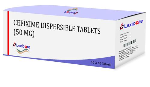 Cefixime Dispersible Tablets 50 mg