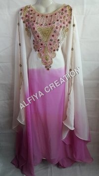 Fancy Shaded Dubai Jalabiya Kaftan