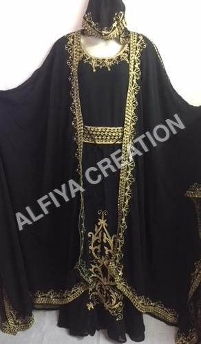 Designer Moroccan Jacket Hood Farasha Kaftan Dress