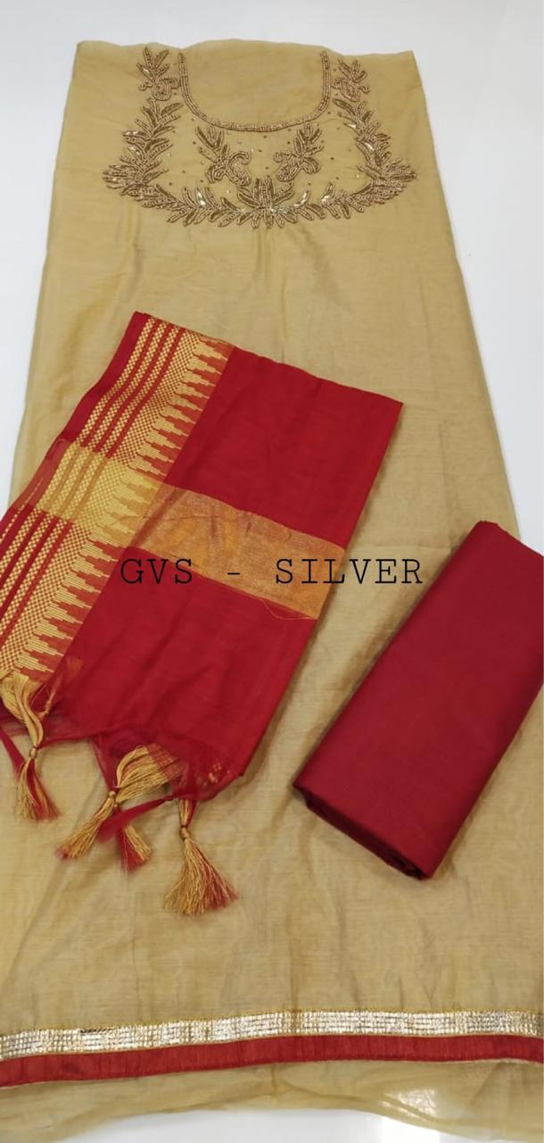 Fancy Hand Worked  Dress Material