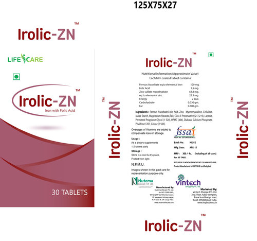 Irolic-Zn Tablets