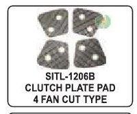 Clutch Plate Pad 4 Fan Cut Type