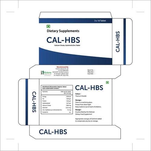 Calcium Citrate, Calcitriol and Zinc Tablet