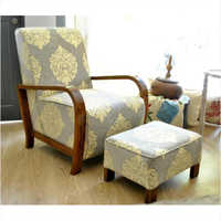 Deco Arm Chair and footstool