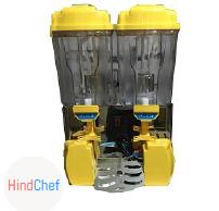 Juice dispenser, double tank
