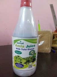 Amla juice with tulsi elaichi