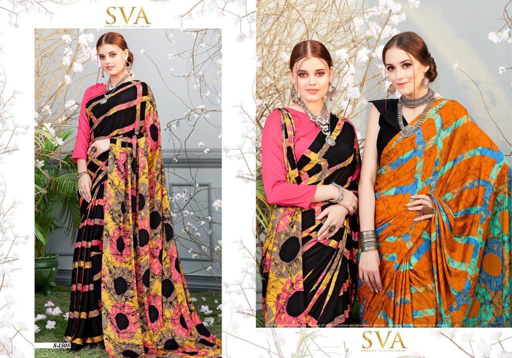 Fancy Crepe Silk  Sarees