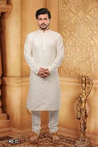 Mens Embroidered kurta Pyjama
