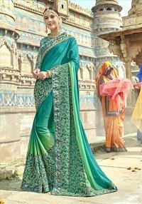 Exclusive Embroidered Jeni Silk Saree